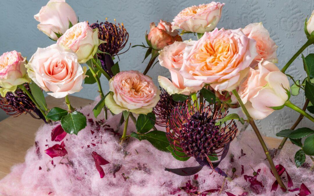 Rozen fleuren het interieur