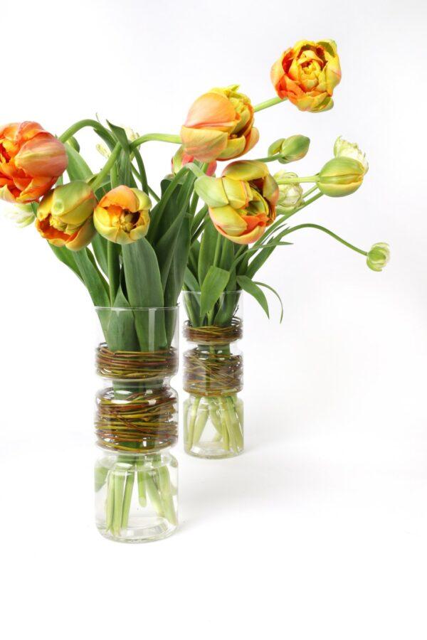 """Bloemwerk """"Vaas met Franse tulpen"""""""